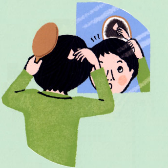 円形脱毛症イメージ